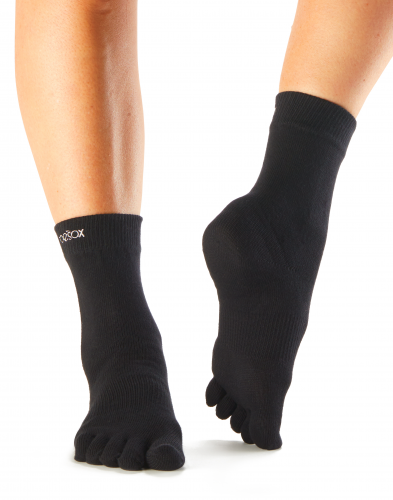 ToeSox Casual Crew in Black