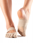 ToeSox Full Toe Releve Dance Socks in Nude
