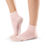 ToeSox Full Toe Ankle Grip Socks in Chill