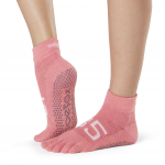 ToeSox Full Toe Ankle Grip Socks in Ace