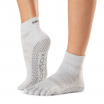 ToeSox Full Toe Ankle Grip Socks in Ciao
