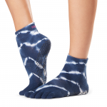 ToeSox Full Toe Ankle Grip Socks in Cosmic