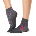 ToeSox Full Toe Ankle Grip Socks in Festival