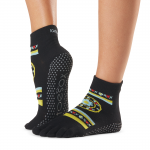 ToeSox Full Toe Ankle Grip Socks in Fresco