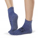 ToeSox Full Toe Ankle Grip Socks in Jersey