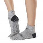 ToeSox Full Toe Ankle Grip Socks in Jet
