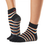 ToeSox Full Toe Ankle Grip Socks in Mystique