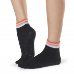 ToeSox Full Toe Ankle Grip Socks in Retro