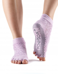 ToeSox Half Toe Ankle Grip Socks in Diamond Freesia