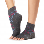 ToeSox Half Toe Ankle Grip Socks in Festival