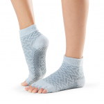 ToeSox Half Toe Ankle Grip Socks in Frost