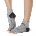 ToeSox Half Toe Ankle Grip Socks in Jet