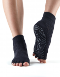 ToeSox Half Toe Ankle Grip Socks in Onyx