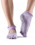 ToeSox Full Toe Bella Grip Socks in Blossom Lace