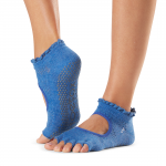 ToeSox Half Toe Bella Grip Socks in Azure
