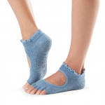 ToeSox Half Toe Bella Grip Socks in Denim Lace