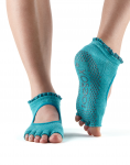 ToeSox Half Toe Bella Grip Socks in Sea Lace