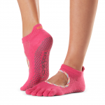ToeSox Full Toe Bellarina Grip Socks in Jetset