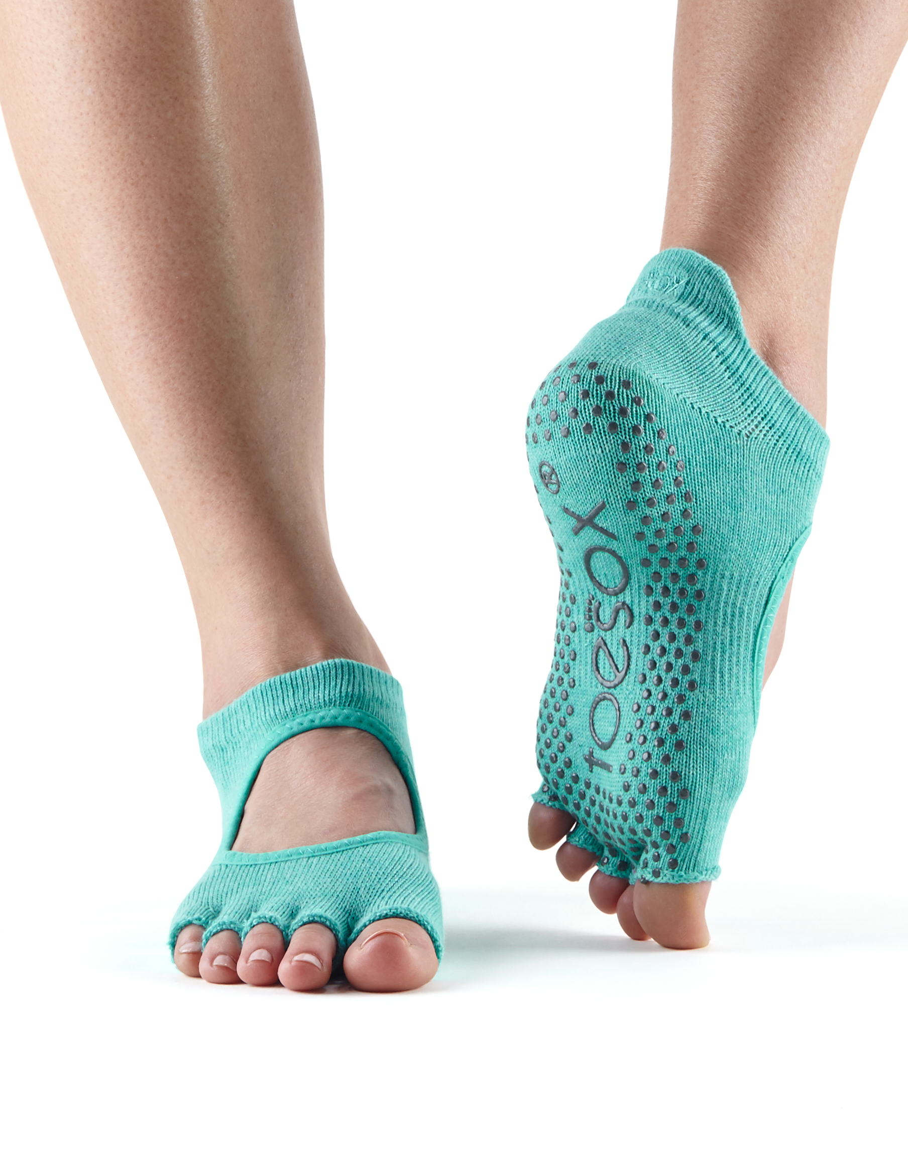 ff54a5bac5f2 ToeSox Half Toe Grip Socks in Bellarina Aqua