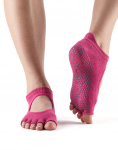 ToeSox Half Toe Bellarina in Raspberry