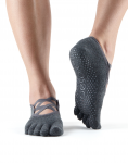 ToeSox Full Toe Elle in Charcoal Grey
