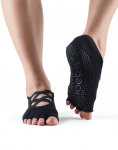 ToeSox Half Toe Elle in Black