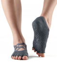 ToeSox Half Toe Elle in Charcoal Grey