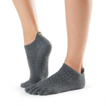 ToeSox Full Toe Low Rise Grip Socks in Glam