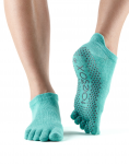 ToeSox Full Toe Low Rise in Aqua
