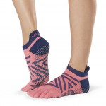 ToeSox Full Toe Low Rise Grip Socks in Fame