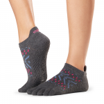 ToeSox Full Toe Low Rise Grip Socks in Festival