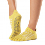 ToeSox Full Toe Low Rise Grip Socks in Getaway