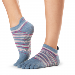 ToeSox Full Toe Low Rise Grip Socks in Gypsy