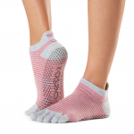 ToeSox Full Toe Low Rise Grip Socks in Hola