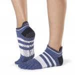 ToeSox Full Toe Low Rise Grip Socks in Iconic