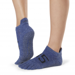 ToeSox Full Toe Low Rise Grip Socks in Jersey