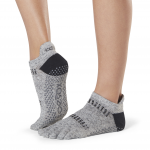 ToeSox Full Toe Low Rise Grip Socks in Jet