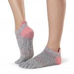 ToeSox Full Toe Low Rise Grip Socks in Maniac