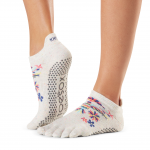 ToeSox Full Toe Low Rise Grip Socks in Pico