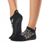 ToeSox Full Toe Low Rise Grip Socks in Soir