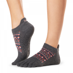 ToeSox Full Toe Low Rise Grip Socks in Sundown