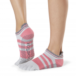 ToeSox Full Toe Low Rise Grip Socks in Whip