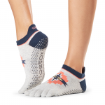 ToeSox Full Toe Low Rise Grip Socks in Yonder