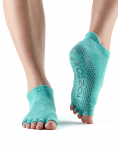 ToeSox Half Toe Low Rise in Aqua