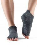 ToeSox Half Toe Low Rise in Charcoal Grey