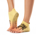 ToeSox Half Toe Low Rise Grip Socks in Escape
