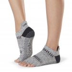 ToeSox Half Toe Low Rise Grip Socks in Jet