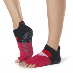 ToeSox Half Toe Low Rise Grip Socks in Passion