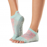 ToeSox Half Toe Low Rise Grip Socks in Playa