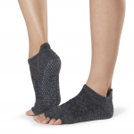 ToeSox Half Toe Low Rise Grip Socks in Quartz